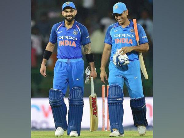India skipper Virat Kohli (left) with MS Dhoni (right) (Photo/ Virat Kohli Twitter)