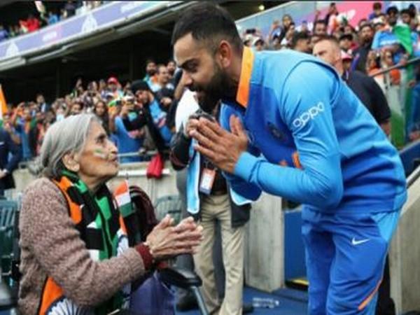 India skipper Virat Kohli with Charulata Patel (Photo/ Virat Kohli Twitter)