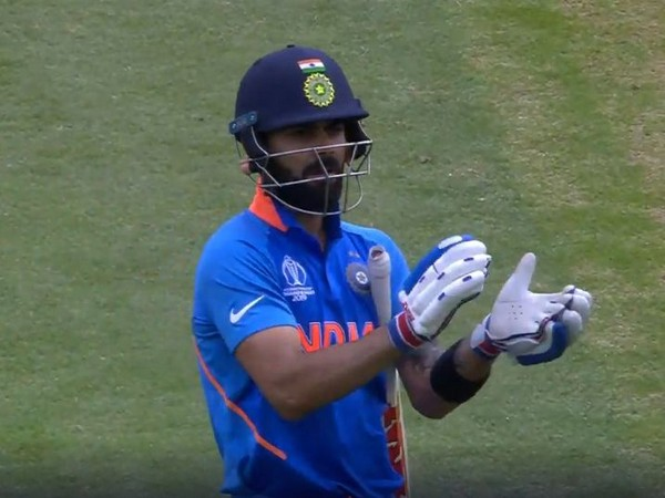 India skipper Virat Kohli during World Cup match against Australia (Photo/ ICC Twitter)