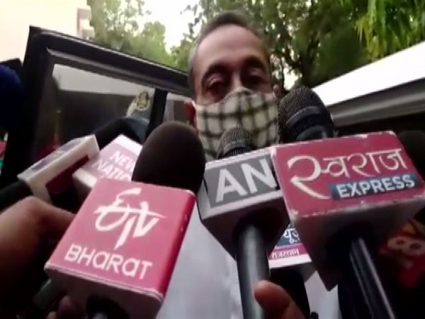 Congress MLA Vishvendra Singh talking to reporters on Thursday. Photo/ANI