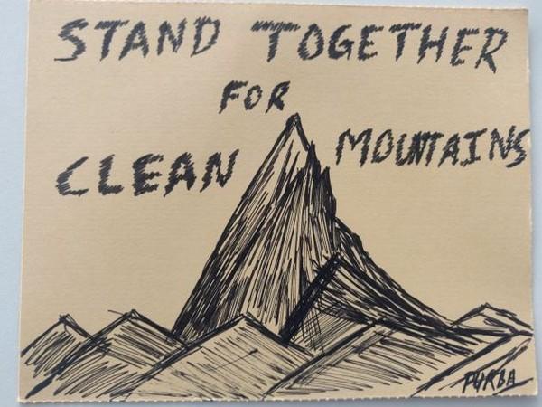 A handwritten postcard by Vistara