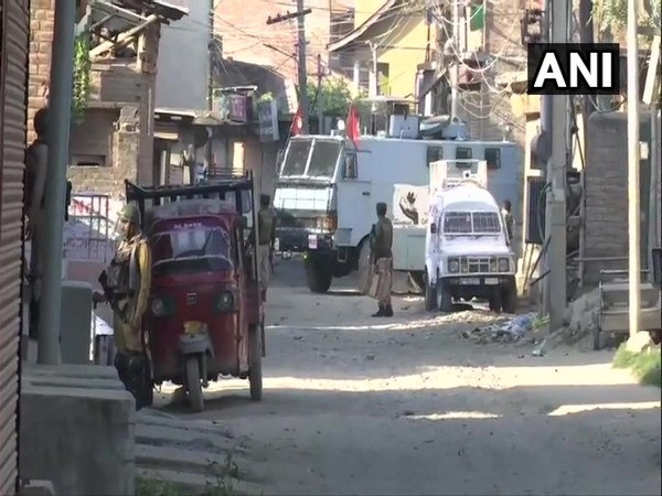 Visual of Batmaloo locality of Srinagar City where after an operation early this morning at 3.30 am.