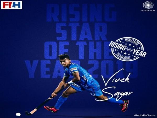 Indian hockey player Vivek Sagar Prasad (Photo/ Hockey India Twitter)