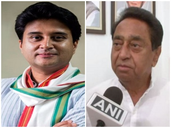 Congress leader Jyotiraditya Scindia and Madhya Pradesh Chief Minister Kamal Nath (File photo)