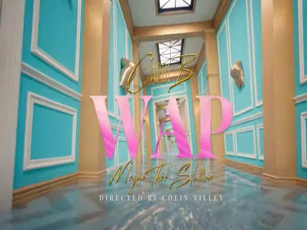 A still from the official music video of 'WAP' (Image source: YouTube)