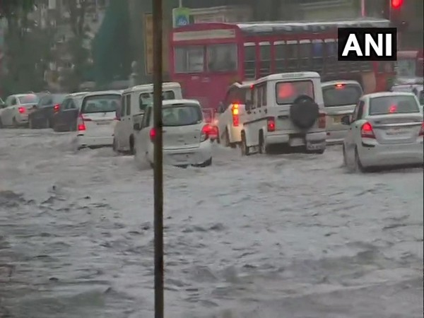 Heavy waterlogging and traffic congestion have also been reported in several parts of the city following heavy rainfall. (ANI)