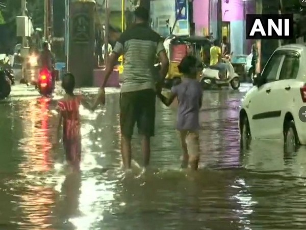 Visuals from Hyderabad after waterlogging (Photo/ANI)