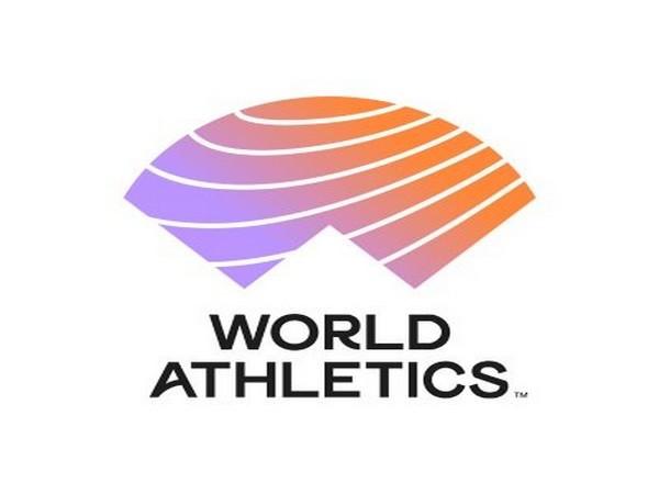 World Athletics logo.