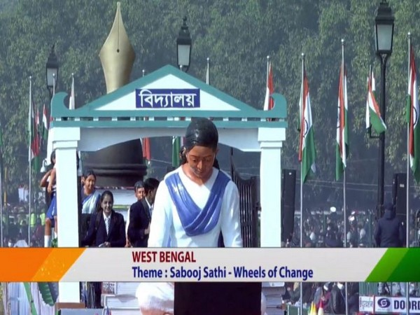 West Bengal Tableau at Republic Day parade (Photo/ANI)