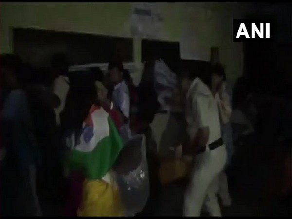 Visuals from the incident in which the para teachers were baton charged in Kalyani, West Bengal. (File Photo/ANI)