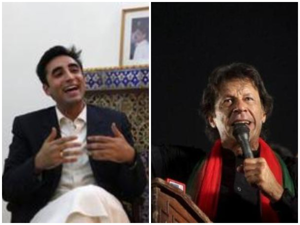 Bilawal Bhutto and  Imran Khan