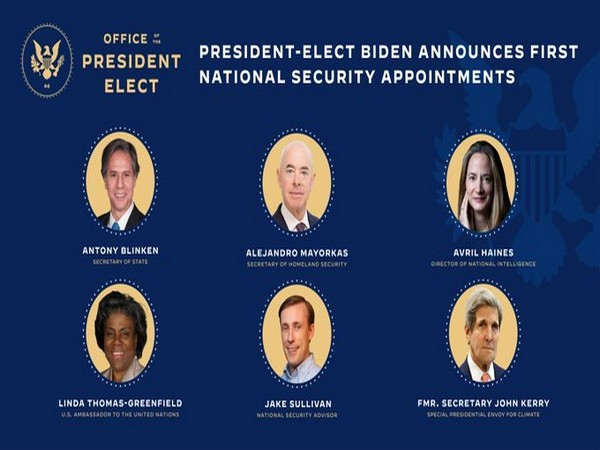 President-elect Joe Biden announces national security appointments on Monday.