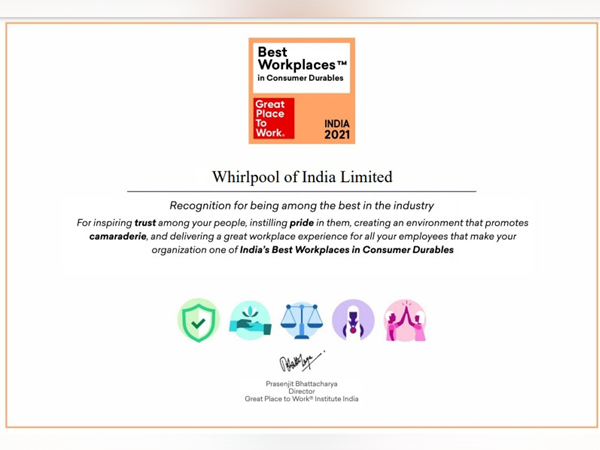 Whirlpool of India - India's Best Workplaces in Consumer Durables