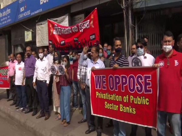 Visual of a protest in Connaught Place, Delhi