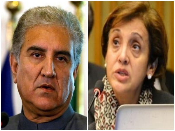 Pakistan Foreign Minister Shah Mehmood Qureshi and former Foreign Secretary Tehmina Janjua (File photo)