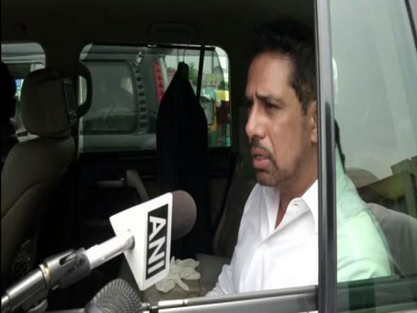 Robert Vadra speaking to ANI in New Delhi on Saturday. (Photo/ANI)
