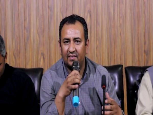 Wajahat Ali, a journalist based in Gilgit at a press meet (ANI)
