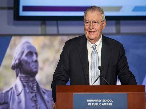 Former US Vice President Walter 'Fritz' Mondale (Photo Credit - Reuters)