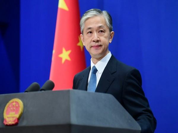 Chinese Foreign Ministry spokesman Wang Wenbin (Photo credit: China MFA twitter)
