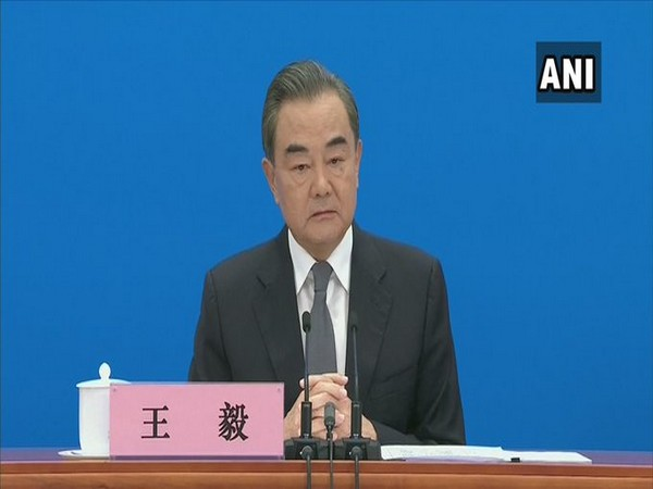Chinese Foreign Minster Wang Yi at his annual press conference in Beijing on Sunday.