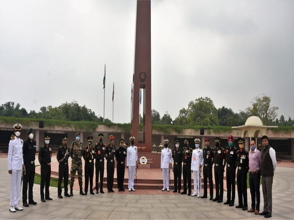 A silent wreath was laid at National War Memorial on Wednesday by Colonel Santosh Babu's coursemates and friends.