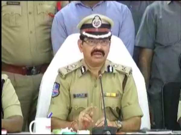 Dr Ravinder, Commissioner of Police (CP), Warangal, speaking to reporters on Monday. Photo/ANI