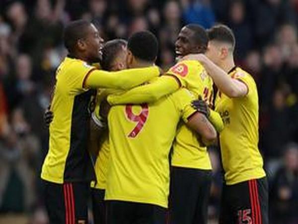 Watford side celebrating!
