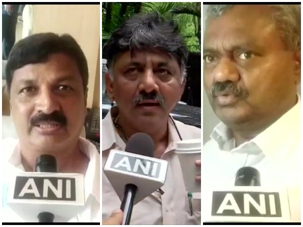 Congress rebel MLA Ramesh Jharkioli / Karnataka Minister DK Shivakumar / Rebel Congress leader ST Somashekar