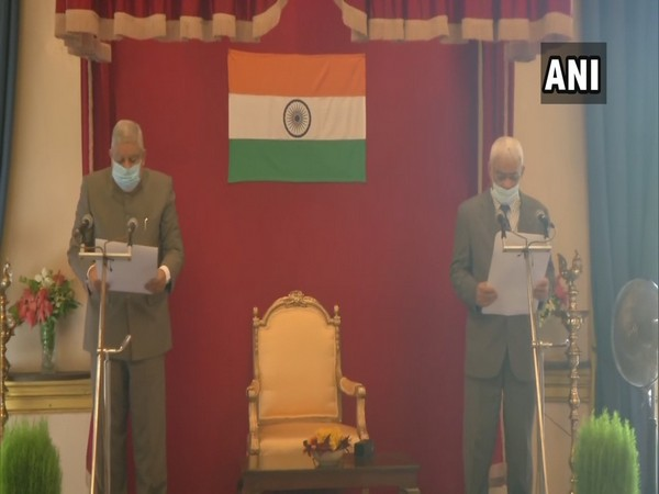 Lieutenant General (Retd.) Abhay Krishna takes an oath for Chief Commissioner, West Bengal Right to Public Services Commission on Monday.