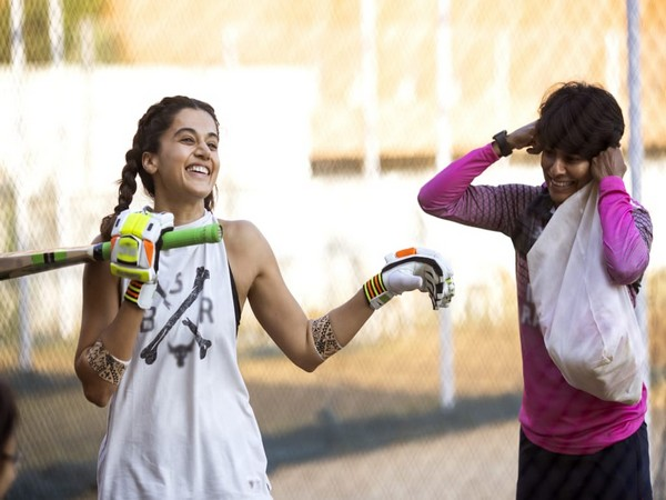 Taapsee Pannu training with Nooshin Al Khadeer for upcoming movie 'Shabaash Mithu'