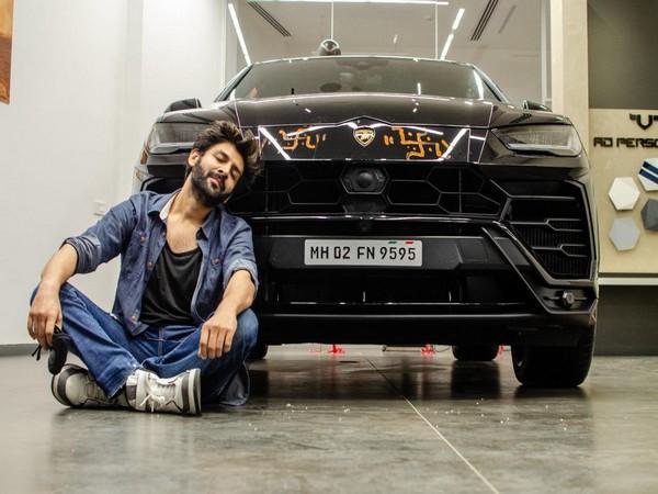 Kartik Aaryan with his new Lamborghini Urus