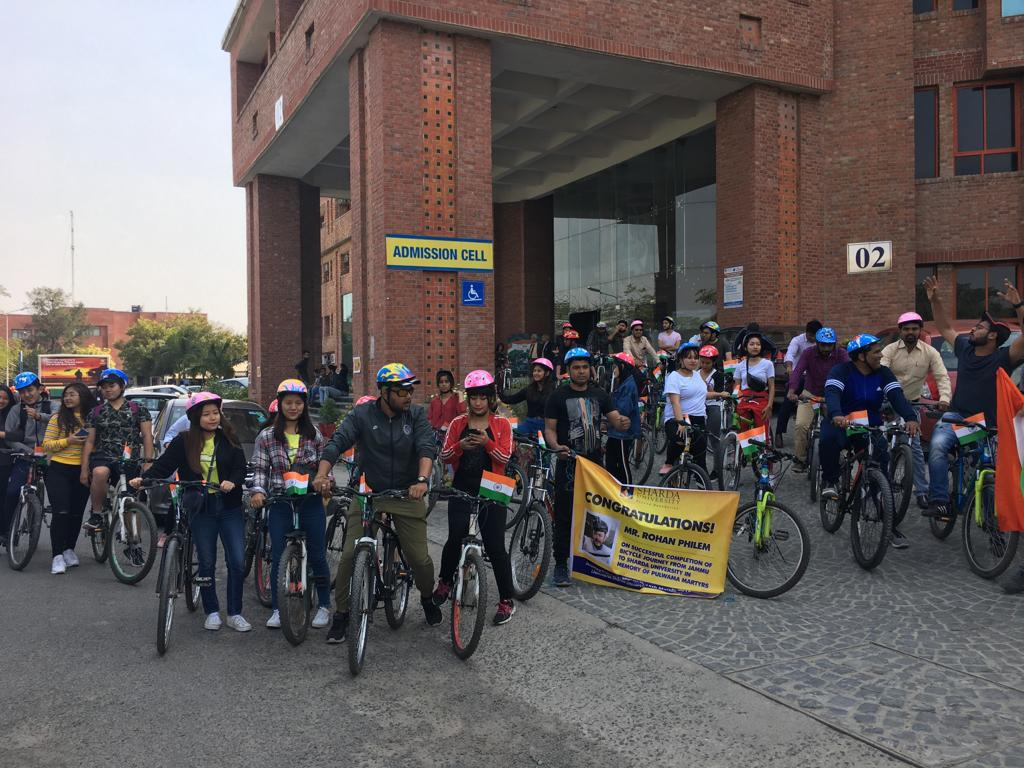 The 24-year-old Manipur cyclist Philem Rohan Singh, completed a nine-day cycling journey from Jammu to Greater Noida