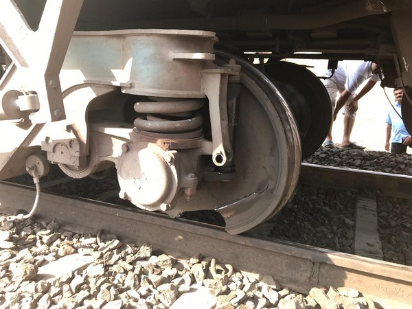 Dismantled train tyre