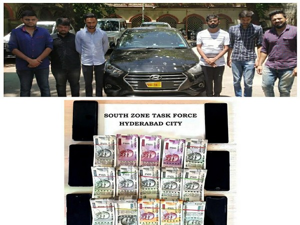 HYderabad Police arrests six persons and seizes betting amount Photo/ANI