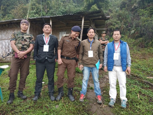 The EC team which was trapped for 19 days during re-polls in Arunachal.  Photo/ANI