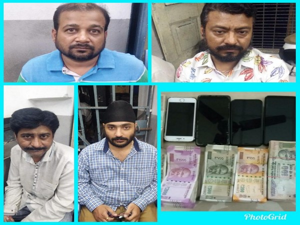 Four accused and their possessions at the time of arrest (photo/ANI)