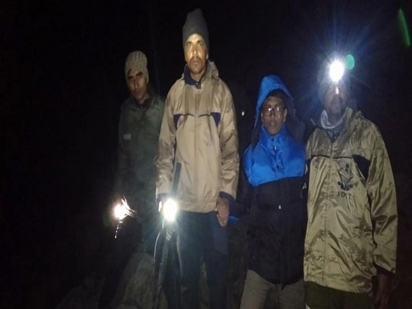 A tourist was rescued by the SDRF on Thursday. Photo/ANI