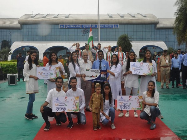 Surat airport basks in celebrations of Independence Day by AAI and IDT Surat