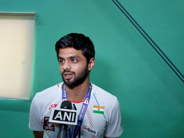 Indian shuttler B Sai Praneeth speaking to ANI in Hyderabad on Tuesday. Photo/ANI