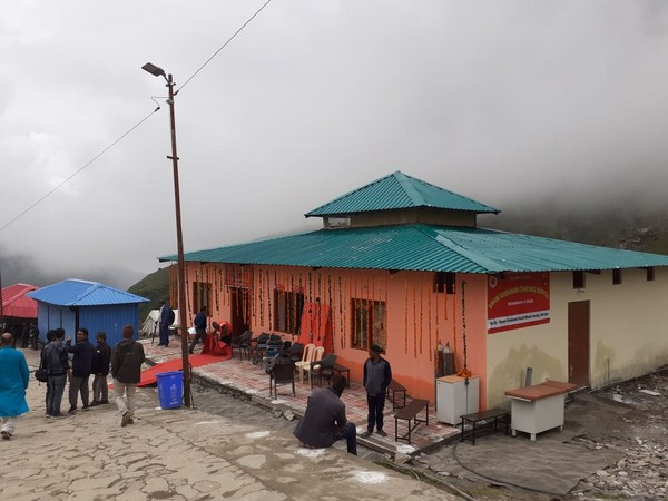 Swami Vivekananda Dharamarth Hospital near Kedarnath temple in Rudraprayag district. (Photo/ANI)