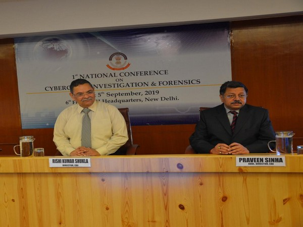 Central Bureau of Investigation Director RK Shukla at the agency headquarters on Wednesday during the conference. Photo/ANI