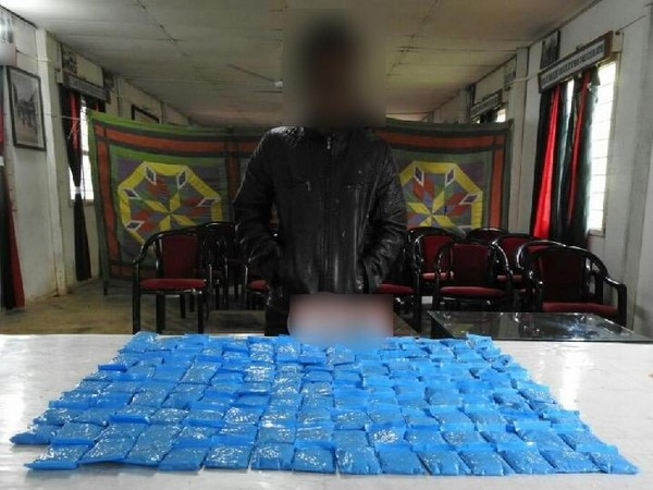 The seized contraband drugs by Assam Rifles on Oct 9 in Manipur. Photo/ANI