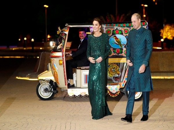 Duke and Duchess of Cambridge, Prince William and Kate Middleton arrive for dinner by rickshaw