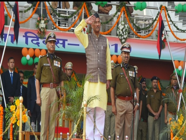 Uttrakhand CM Trivendra Singh Rawat attends ceremonial parade at Police Line, Dehradun