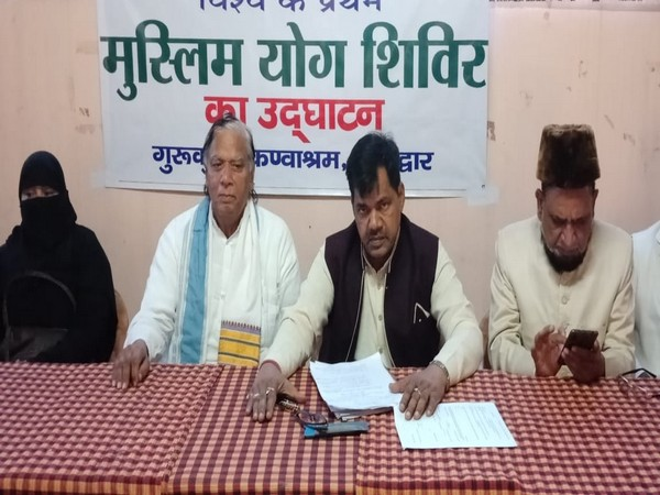 The decision to hold Muslim Yoga camp was announced at a press conference in Kotdwar, Uttarakhand, on Sunday. Photo/ANI
