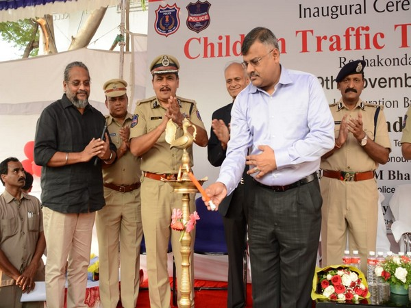 Chidren Traffic Training Park was inaugurated in Hyderabad on Tuesday.