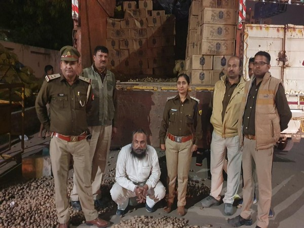 The accused with the Sahibabad police on Sunday