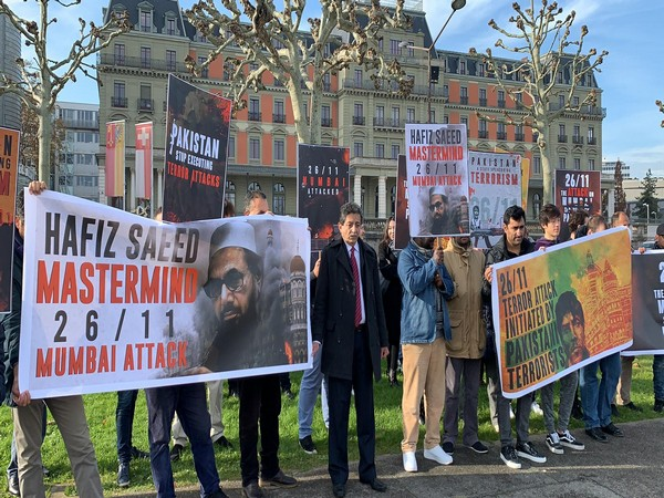 Protests outside the UN office in Geneva, Switzerland