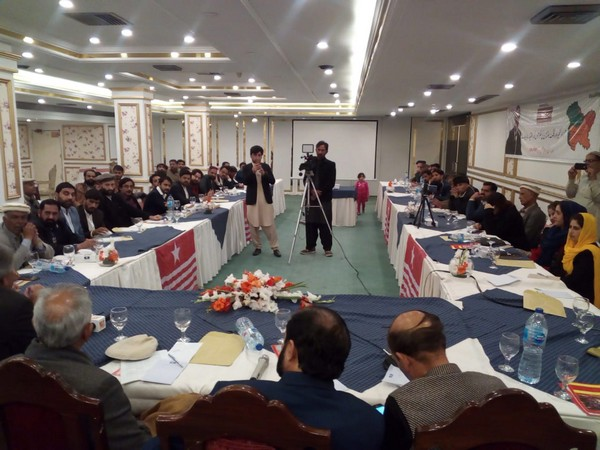 """Activists at the """"Conference on State of Jammu & Kashmir, Current Situation & the Way Forward"""" in Islamabad"""