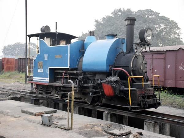 A steam powered toy train in Darjeeling.